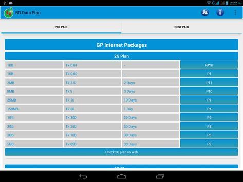 BD Data Plan (2G & 3G) apk screenshot