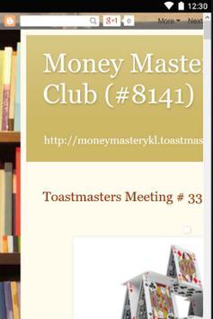 Money Mastery KL Toastmasters apk screenshot
