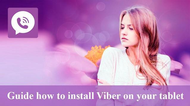 Setup Viber for tablets poster