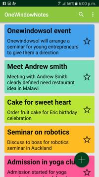 OneWindow Notes apk screenshot