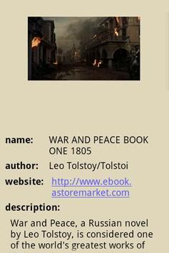 WAR AND PEACE BOOK ONE 1805 poster