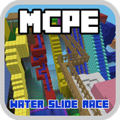Water Slide Race Map For MCPE icon