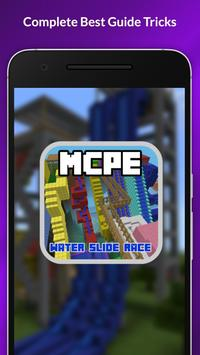 Water Slide Race Map For MCPE poster