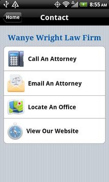 Wayne Wright Injury Lawyers apk screenshot