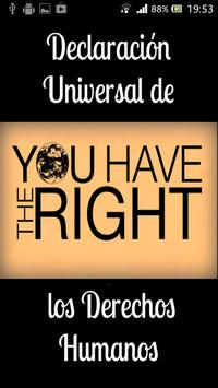 DUDH Derechos Humanos poster