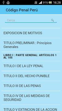 Código Penal Perú poster