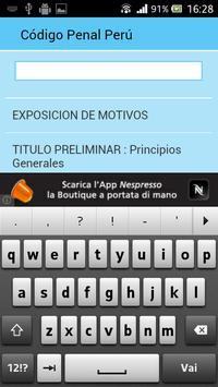 Código Penal Perú apk screenshot