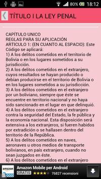 Código Penal Bolivia apk screenshot