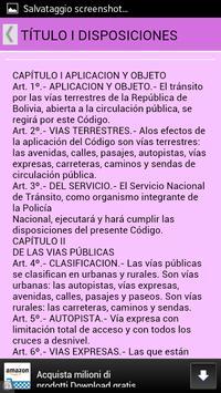 CODIGO DEL TRANSITO DE BOLIVIA apk screenshot