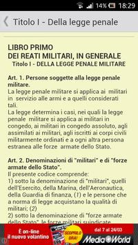 Codice Penale Militare di Pace apk screenshot