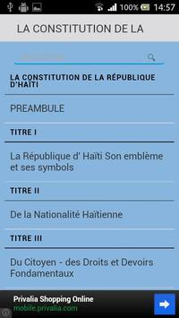Constitution d'Haïti apk screenshot