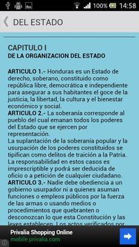 Constitución de Honduras apk screenshot