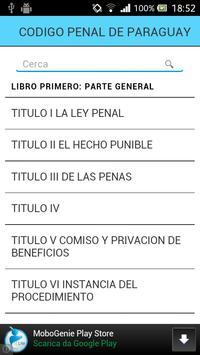 Código Penal de Paraguay apk screenshot