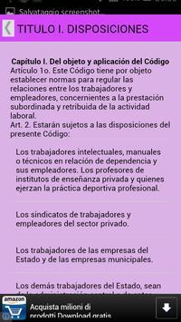 Código del Trabajo Paraguay apk screenshot