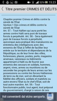 Code pénal de Haïti apk screenshot
