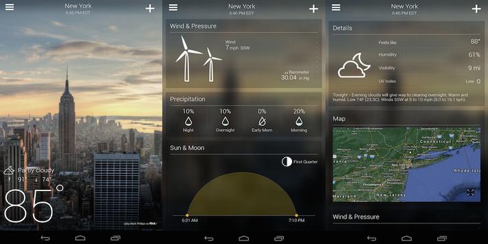 Weather widget poster