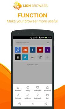 LION Browser - Fast & Saver apk screenshot