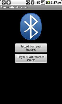 Bluetooth mic test poster
