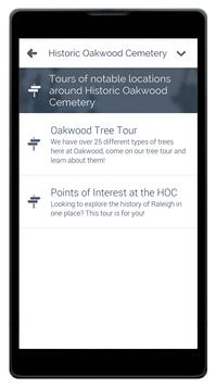 Historic Oakwood Cemetery apk screenshot