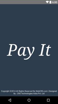WebCRS- PayIt poster