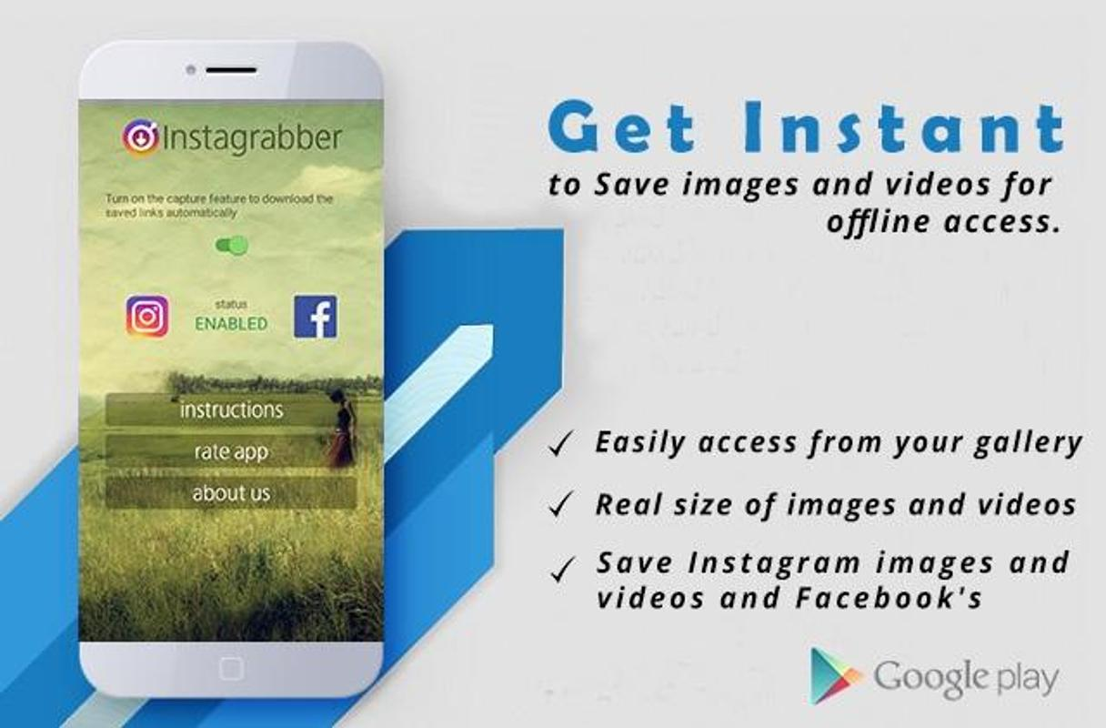 how to download pictures from instagram using android