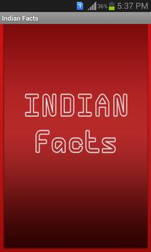 Indian Facts poster