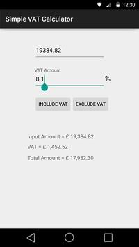 Simple VAT Calculator apk screenshot
