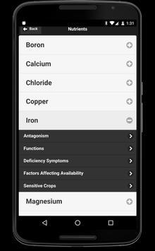 Crop Nutrient Interactions apk screenshot