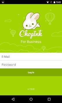 ChopInk Merchant apk screenshot
