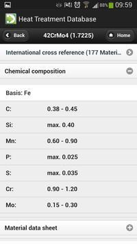 Heat Treatment Database 2014 apk screenshot