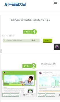 FAAXY Easy Website Builder apk screenshot