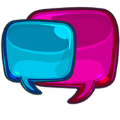 Girl talk messenger icon