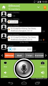 WhereTeam Talk apk screenshot