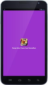 Resep Buka Puasa Saat Ramadhan poster