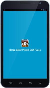 Resep Sahur Praktis Saat Puasa apk screenshot