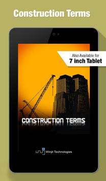 Construction Terms apk screenshot