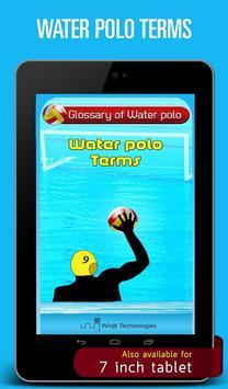 Water polo Terms apk screenshot