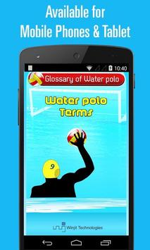 Water polo Terms poster