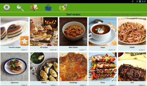 Beef recipes apk screenshot