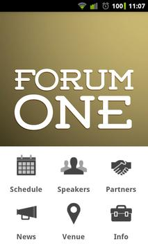 Forum One Leadership Forum poster
