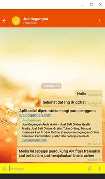 Chat jual beli online - jdChat apk screenshot