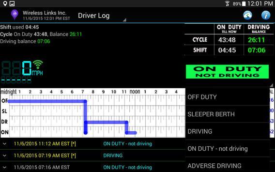 Driver Log apk screenshot