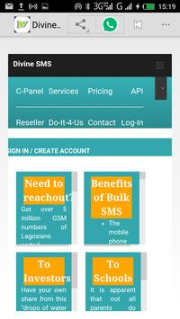 Divine SMS apk screenshot