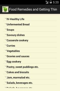 Food Remedies and Getting Thin apk screenshot