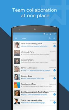 Workhive : Team chat app poster