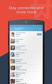Workhive : Team chat app apk screenshot