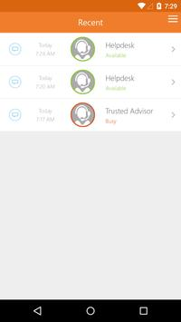 Anywhere365 GridChat apk screenshot