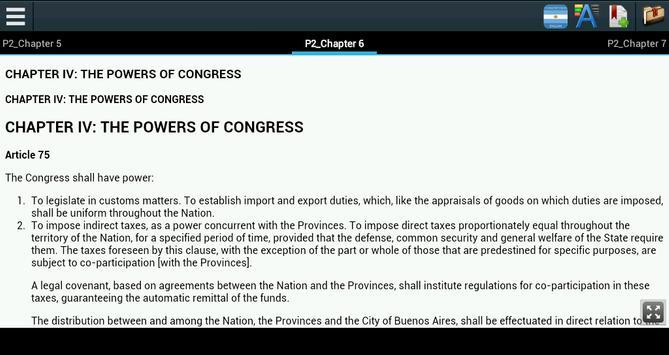 Constitution of Argentina apk screenshot