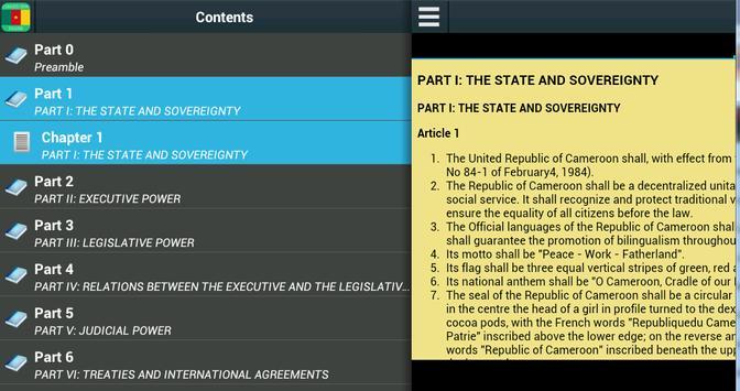 Constitution of Cameroon apk screenshot