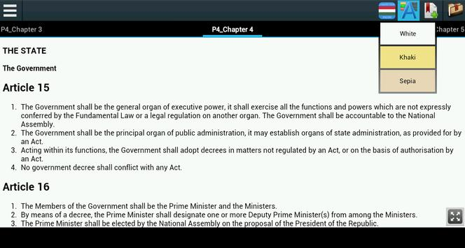Constitution of Hungary apk screenshot